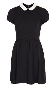 """Topshop has restocked the """"Contrast Collar Dress"""". (As of Oct 30, 2013)  NOTE: this is theCopyKate dress, not the one worn by Kate."""