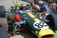 Jim Clark in his Lotus 38 during the practise for the Indy 500 1965