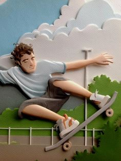 RIO - Paper sculptures by Carlos Meira, via Behance