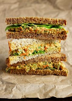 30 BYO Fast & Healthy Lunch Ideas | Lentil and Chickpea Salad Sandwich Recipe @stylecaster