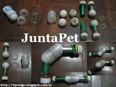 Foto: JuntaPet - A partir de dois frascos de desodorante Roll-On, separar as…