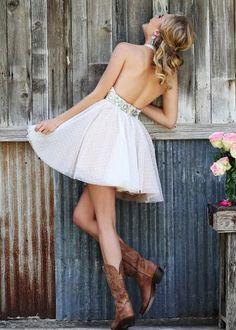 2015 Ivory Halter Deep V Back Open Back Beaded Short Prom Dress [Sherri Hill 11268 Ivory] - $189.00 : Prom Dresses 2015 On Sale