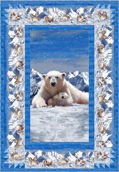 Pieced quilt that uses a panel. Perfect for Winter. Polar Bear Fun Quilt Pattern CJC-49481 by Castilleja Cotton - Diane McGregor. Check out our Winter patterns. https://www.pinterest.com/quiltwomancom/winter-patterns/ Subscribe to our mailing list for updates on new patterns and sales! http://visitor.constantcontact.com/manage/optin?v=001nInsvTYVCuDEFMt6NnF5AZm5OdNtzij2ua4k-qgFIzX6B22GyGeBWSrTG2Of_W0RDlB-QaVpNqTrhbz9y39jbLrD2dlEPkoHf_P3E6E5nBNVQNAEUs-xVA%3D%3D