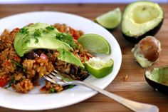 Mexican Refried Rice with Brussel Sprouts and Black Beans