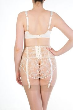 Harlow & Fox - Serena Ivory Luxury Bridal Lingerie - Brief, Full Bust Bra & G-belt <3<3<3<3<3