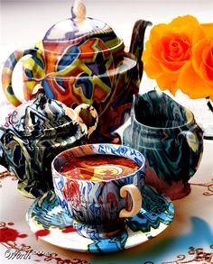 colorful teapots..for an amazing indoor tea.
