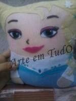 Almofada  Elsa frozen em feltro