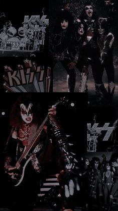 Kiss Rock Bands, Kiss Band, Queen Aesthetic, Witch Aesthetic, Music Collage, Band Wallpapers, Wallpaper Aesthetic, Hot Band, Pop Rocks