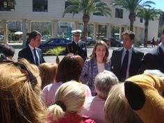 Club de mama en la visita de los Principes de Asturias con motivo de la Clausura y entrega de premios con motivo del V centenario de la fundación del Hospital General