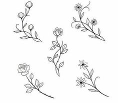 Embroidery designs from botanical images. Only pictures. No link available. jwt - Galena U. Mini Tattoos - diy tattoo image - Embroidery designs from botanical images. Only pictures. No link available. Mini Tattoos, Body Art Tattoos, Small Tattoos, Small Flower Tattoos, Diy Tattoo, Tattoo Ideas, Tatuagem Diy, Illustration Tattoo, Muster Tattoos