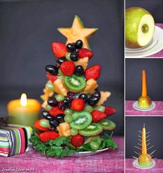 Fruit Christmas Tree Centerpiece
