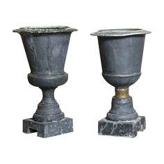 Set  of 18th Century French Zinc Urns