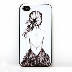 Hand-drawn Sketch Girl Print Iphone Case for Iphone 4/4s/5|Creative Iphone Cases - Iphone Accessories - ByGoods.com