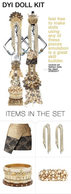 """Dollmakers kit"" by dawn-lindenberg ❤ liked on Polyvore featuring art"