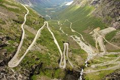 Are you driving by car from Bergen to Trondheim? Beautiful drive via Geiranger and Gaularfjellet. Find information and travel advice here. Beautiful Roads, Beautiful Places, Adventure Awaits, Lofoten, Cool Places To Visit, Places To Travel, Troll, Holidays In Norway, Les Fjords