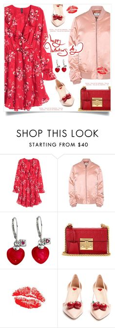"""""""Happy Valentines Day"""" by anne-irene ❤ liked on Polyvore featuring Acne Studios, Gucci, Pink, HM, valentinesday and redandpink"""