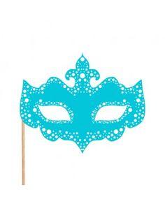 Maske Parti Çubuğu Mavi