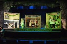 """Set Design, Painting, and Dressing """"Into the Woods"""" on RISD Portfolios Set Theatre, Set Design Theatre, Stage Design, Design Set, Into The Woods Musical, Beauty And The Beast Costume, Fairytale Art, Stage Set, Christmas Settings"""