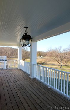 And this right here is why I love wrap porches & country views!
