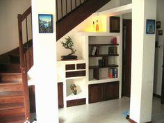 Parete libreria- Compensato(muro) legno di castagno-  TESTADILEGNO