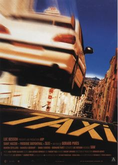 """""""Taxi""""(1998). Directed by Gérard Pirès. Starring : Samy Naceri, Frédéric Diefenthal, Marion Cotillard, Emma Sjoberg, Bernard Farcy, Manuela Gourary. Daniel is the fastest delivery man for the local pizza parlor Pizza in France. On the last day of work, he sets a new speed record, then leaves the job to pursue a new career as a taxi driver with the blessings of his boss and co-workers. 12+"""