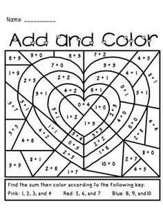 s Day Add and Color Activity Valentine s Day Add and Color Activity - perfect for K or grade.Valentine s Day Add and Color Activity - perfect for K or grade. Valentine Theme, Valentines Day Party, Valentine Day Crafts, Valentine Nails, Valentine Ideas, Math Classroom, Classroom Activities, Classroom Crafts, Valentines Day Activities