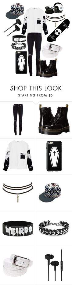 """Untitled #744"" by dino-satan666 ❤ liked on Polyvore featuring Closed, Dr. Martens, TIBI, Charlotte Russe, Hot Topic, West Coast Jewelry, CYLO, men's fashion and menswear"