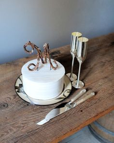 Rustic Wedding Cake Topper - Personalized Grapevine Letter - Script. $28.00, via Etsy.