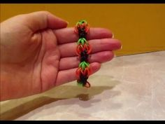 A different PUMPKIN Rainbow Loom Bracelet that also works for strawberries. Not as many bands as the other Pumpkin version. - YouTube