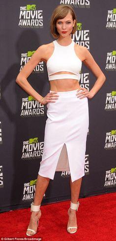 Karlie Kloss in Cushnie et Ochs at the 2013 MTV Movie Awards