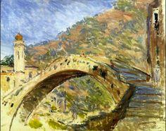 Il ponte di Dolceacqua nella Val Nervia, Claude Monet, 1884 (Olio su tela - Sterling and Francine Clark Institute, Massachusetts)