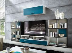Linea by Germania Modern Wall Storage System in Various Colours