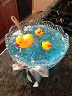 Nautical baby shower punch: blue raspberry kool-aid, lemonade, and sprite