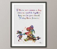 Eeyore and Piglet Quote Winnie the Pooh Watercolor Art Print Wall Art Poster Wedding Gift Wall Decor Art Nursery Wall Hanging [NO 444]
