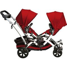 Contours - Options Tandem Baby Stroller, Ruby