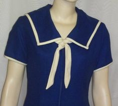 Vintage 1940's Wool Sailor Dress Chumley Carousel Shop Charles F Berg Medium  by ShonnasVintage on Etsy, $119.99