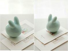 Bunny : Rabbit baby  Ceramic Home Decor  Couple par Poarttery