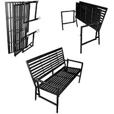 @Overstock - Add the perfect finishing touch to your garden with a new benchHandmade furniture folds flat for easy portability and space saving off-season storagePatio furniture includes a 100-percent polyurethane foam cushionhttp://www.overstock.com/Home-Garden/Iron-Folding-Black-Slatted-Garden-Bench/3927305/product.html?CID=214117 $164.99