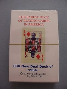 a fdr new deal deck 1934 roosevelt political the rarest playing cards new sealed