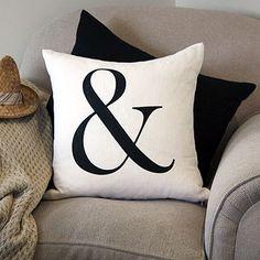 Monica Werner - White typography cushion