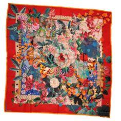 87da16fe0ebb Christian  Lacroix Scarf Original Floral Print - Extra Large Wool Square   ChristianLacroix  LacroixScarf