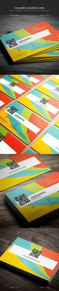 Colourful Business Card Template #design Download: http://graphicriver.net/item/colourful-business-card-10/11046234?ref=ksioks