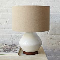 This is the one I picked for the bedroom makeoverl.  Very simple.  I love the Mia Table Lamp - White on westelm.com