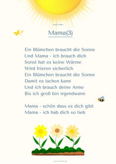 "Gedicht 3 Muttertag Kita ""Mama"""