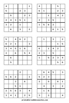 Here are thousands of free Sudoku puzzles to print. Each booklet of printable Sudoku contains eight puzzles, instructions, hints and answers. Puzzles Für Kinder, Sudoku Puzzles, Logic Puzzles, Kids Puzzles, Hard Puzzles, Number Puzzles, Printable Puzzles For Kids, Free Printables, Math Homework Help