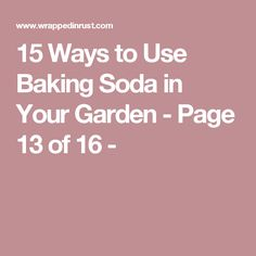 15 Ways to Use Baking Soda in Your Garden - Page 13 of 16 -