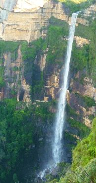 The Bridal Veil Falls in the #BlueMountains ~ love this place! #sydney #australia