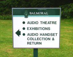 IRS Balmoral way finding signage, simple colour digital print.
