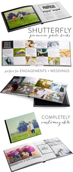 Photo Books from Shutterfly + A GIVEAWAY! http://www.stylemepretty.com/2013/02/18/shutterfly-wedding-engagement-photo-books/