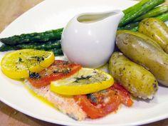 Näkten-röding med mandelpotatis och messmörssås | Recept från Köket.se